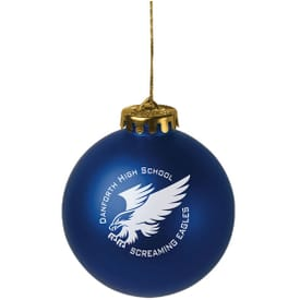 Round Satin Finished Shatterproof Ornament