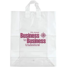 "16"" x 19"" x 6"" Frosted Shopping Plastic Bag"