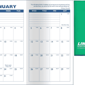 Predictable Monthly Planner- Translucent