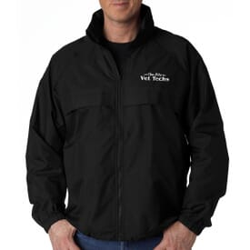 Adult UltraClub™ Full-Zip Hooded Pack-Away Jacket