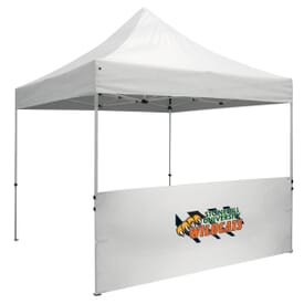10' Wide Tent Half Wall And Standard Stabilizer Bar Kit - Full Color