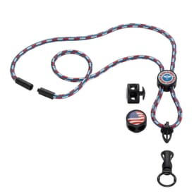 "3/16"" Nylon Power Cord Lanyard with Snap-Buckle Release, Standard O-Ring & Convenience Release"