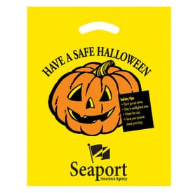"12"" x 15"" Halloween Die Cut Bag - Have A Safe"