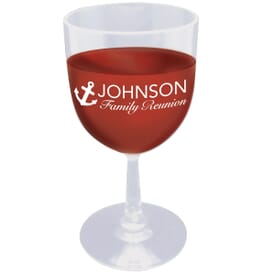 Here's to You Plastic Wine Glass