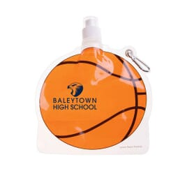 24 oz HydroPouch!™ Packable Bottle - Basketball