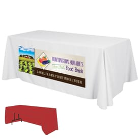 6ft Economy 3-Sided Table Throw - Full Color Front Dye-Sub