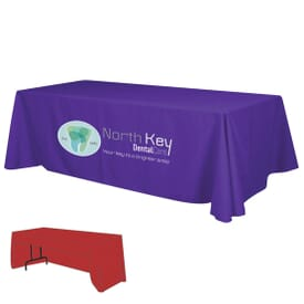 8' Economy Table Throw - Full Color Thermal Front