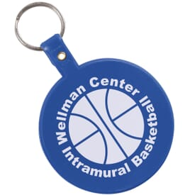 Large Circle Flexible Key Tag
