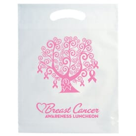 "12"" x 15"" Breast Cancer Awareness Die Cut Bag with Tree Design"