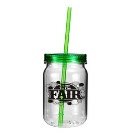24 oz Clear Plastic Mason Jar - One Color