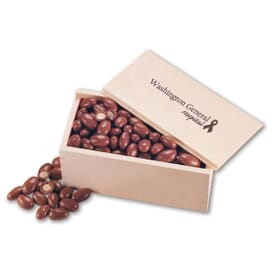 Wooden Collector's Box With Chocolate Almonds