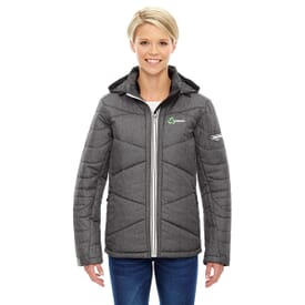 Ladies' North End® Sport Blue Avant Tech Mélange Insulated Jacket with Heat Reflect Technology
