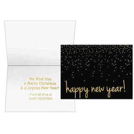 Confetti Happy New Year Greeting Card