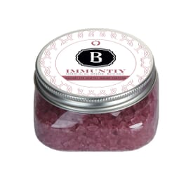 Essential Oil Infused Bath Salts In Clear Square Jar