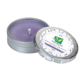 Aromatherapy Candle In Small Silver Push Tin