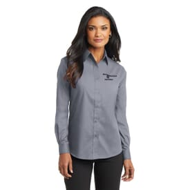 Port Authority® Long Sleeve Value Poplin Shirt- Ladies'