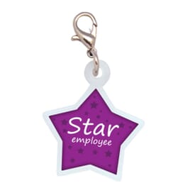 Star Badge Reel Charm- Polydome