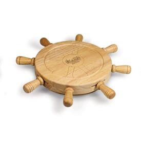 Mariner Shipwheel Design Cutting Board With Tools