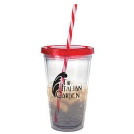 18 oz Translucent Candy Cane Tumbler