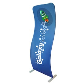 3' X 8' 2-Sided Curved Banner (Banner Only)