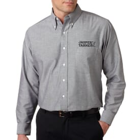 Ultraclub® Men's Classic Wrinkle-Free Long-Sleeve Oxford