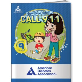 Activity Book&Temporary Tattoos-How & When To Call 911