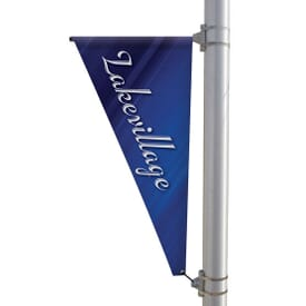 "24"" X 48"" Double-Sided Triangular Boulevard Banner"