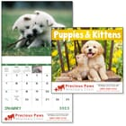 ON SALE-Puppies & Kittens Calendar - Stapled