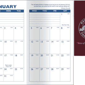Predictable Monthly Planner- Solid
