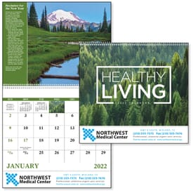 ON SALE-Healthy Living Calendar - Spiral