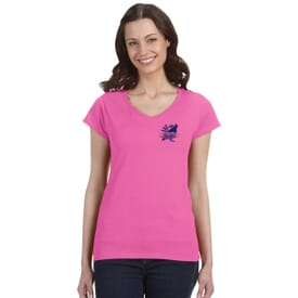 Gildan® Softstyle  V-Neck T-Shirt – Ladies'