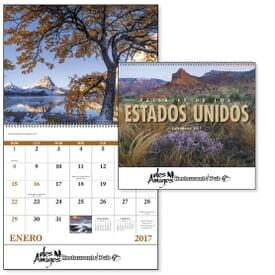 ON SALE-Landscapes of America (Spanish) Calendar - Spiral
