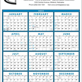 ON SALE-Commercial Span-a-Year Calendar