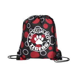 Dressy Drawstring Backpack - Circles