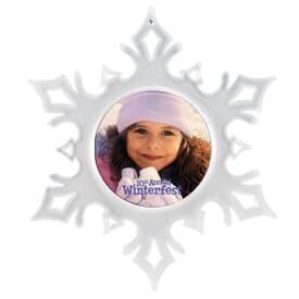 Snowflake Photo Holiday Ornament
