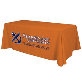 6ft Standard Table Throw - Two Color Thermal Imprint