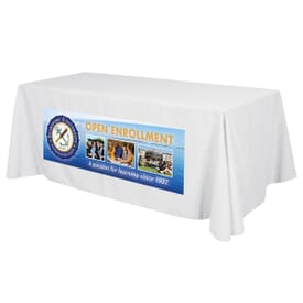 6ft Standard Table Throw - Full Color Front Dye-Sub