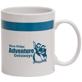 11 oz Color Band Coffee Mug