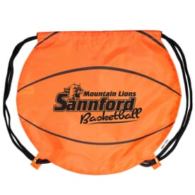Game Time!® Drawstring Backpack - Basketball