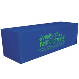 8ft Fitted Table Cover - One Color Thermal Imprint