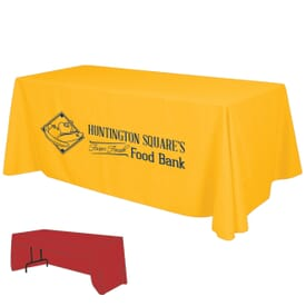 6ft Economy 3-Sided Table Throw – One Color Thermal Imprint