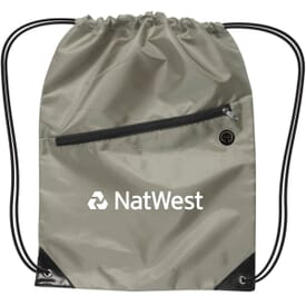 Nylon Drawstring Backpack W/ Zipper