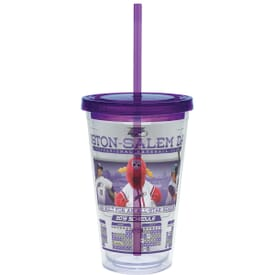 Carnival Cup with Color Lid and Straw- Vivid Print