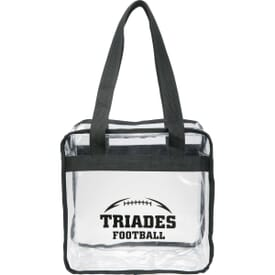 Game Day Clear Zippered Safety Tote