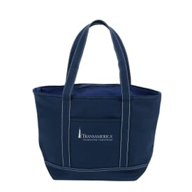 Zippered Solid Color Boat Tote