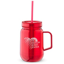 18 oz Carnival Double Wall Mason Jar Travel Mug
