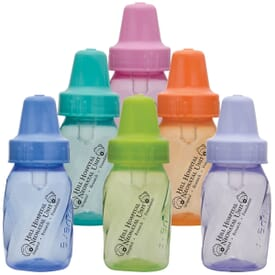 4 oz. Assort Color Evenflo Baby Bottles
