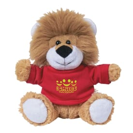 "6"" Lovable Lion With Shirt"