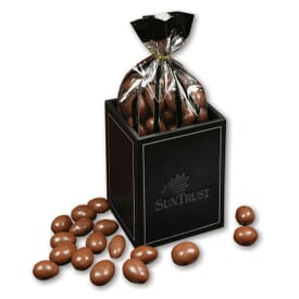 Faux Leather Pencil Cup With Chocolate Almonds