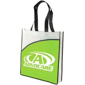 "Conventioneer 15"" Nonwoven Tote Bag W/ 3"" Gusset"